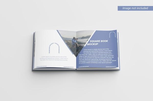 Vue de dessus de la maquette du livre carré
