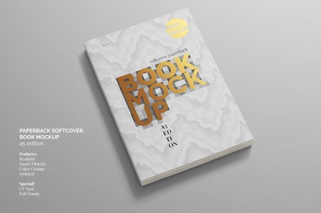 Vue de dessus de maquette de livre broché à couverture souple