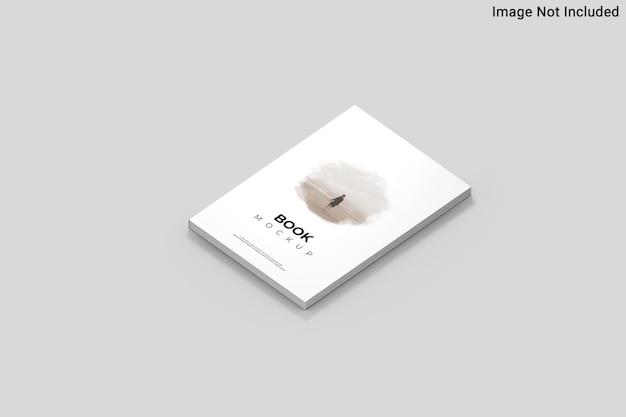 Vue de dessus sur la maquette de livre dans le rendu 3d