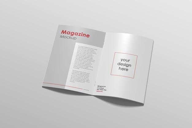Vue de dessus de la maquette de magazine ouvert moderne
