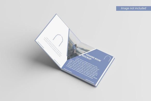 Vue de droite de la maquette du livre carré