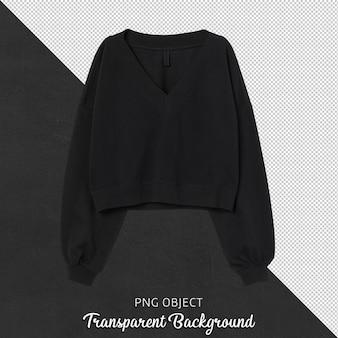 Vue de face du sweat-shirt noir femme