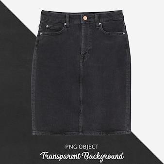 Vue de face de la maquette de jupe en jean noir