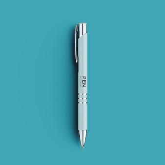 Vue de face de la maquette de stylo de luxe isolée
