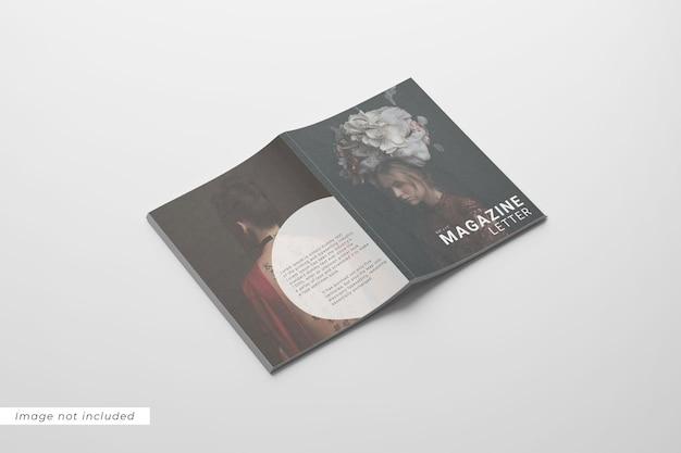 Vue de gauche de la lettre de magazine