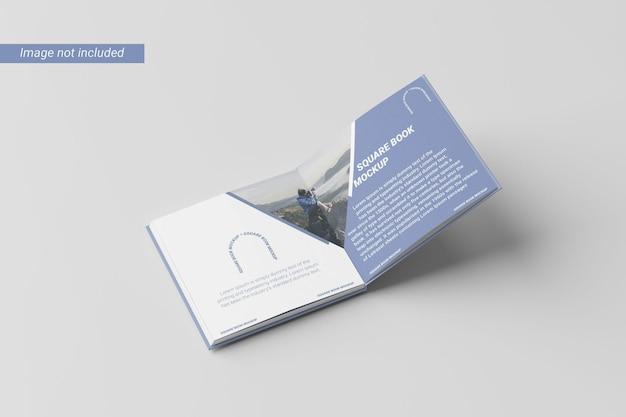 Vue de gauche de la maquette du livre carré