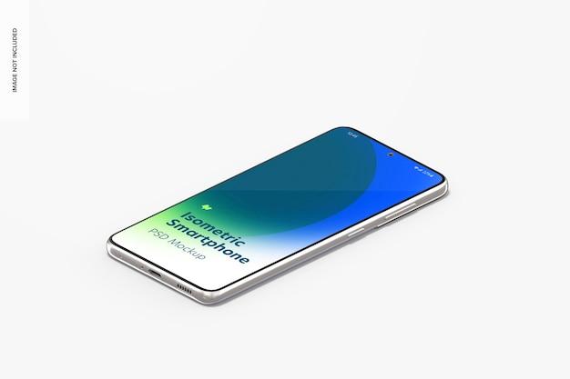 Vue isométrique de la maquette du smartphone