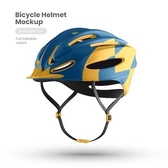 Vue latérale d'une maquette de casque de vélo premium