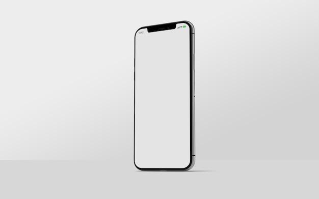 Vue latérale de la maquette du smartphone