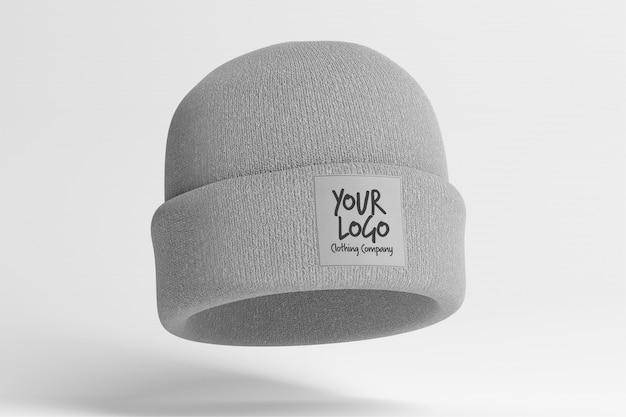 Vue d'une maquette d'un bonnet avec étiquette
