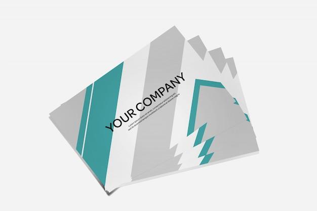 Vue d'une maquette de carte de crédit