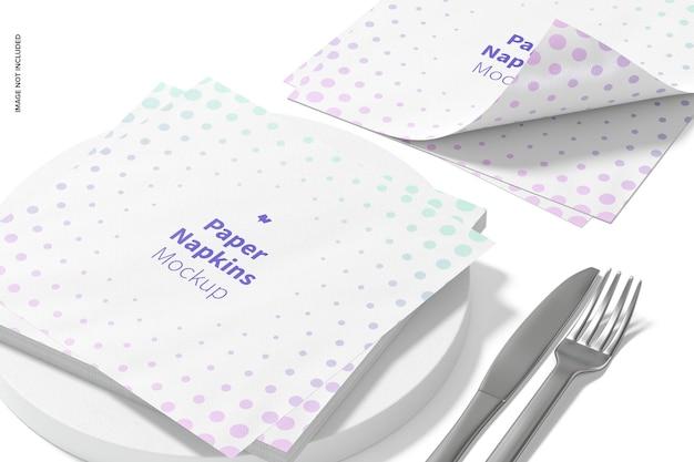 Vue de maquette de serviettes en papier