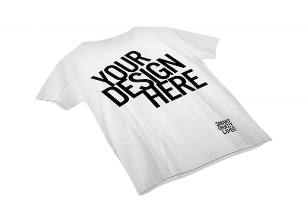 Vue d'une maquette de t-shirt blanc