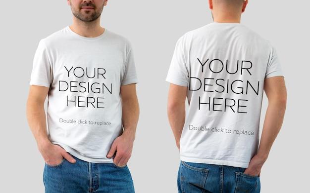 Vue de maquette de tshirt - rendu 3d