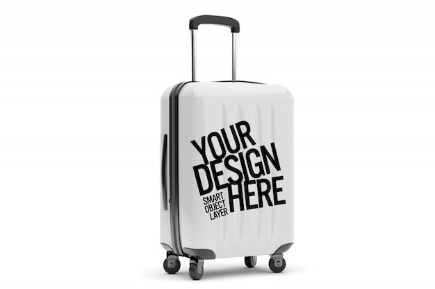 Vue d'une maquette de valises de voyage