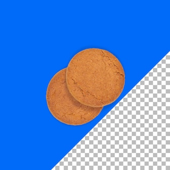 Vue rapprochée des biscuits majestueux isolés