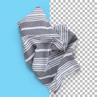 Vue rapprochée isolée de la serviette à rayures.