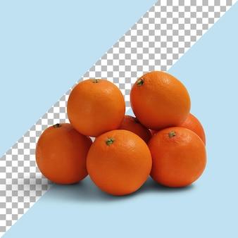 Vue rapprochée des mandarines mûres isolées