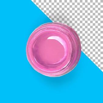 Vue rapprochée de la peinture rose isolée