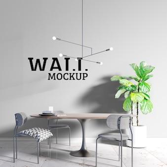 Wall mockup - salle à manger de style scandinave