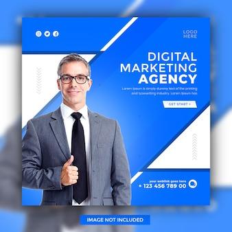Webinaire en direct en ligne sur le marketing numérique, conception de modèle de publication promotionnelle sur les médias sociaux