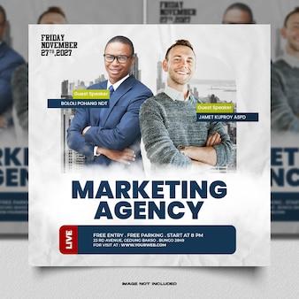 Webinaire sur le marketing numérique et modèle de publication sur les réseaux sociaux d'entreprise
