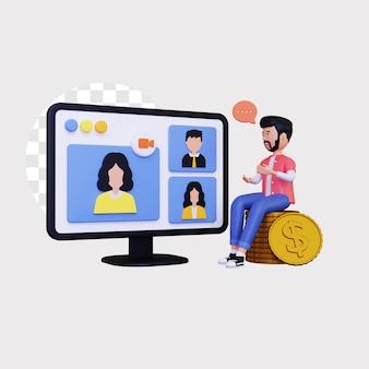 Webinaires en ligne 3d pour la finance