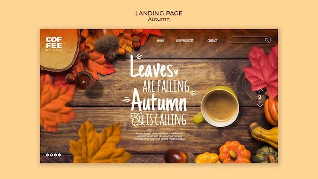 Webtemplate de page de destination d'automne