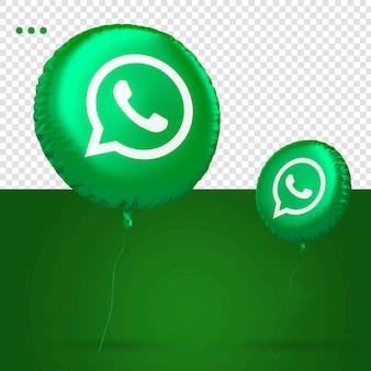 Whatsapp 3d ballon icône médias sociaux
