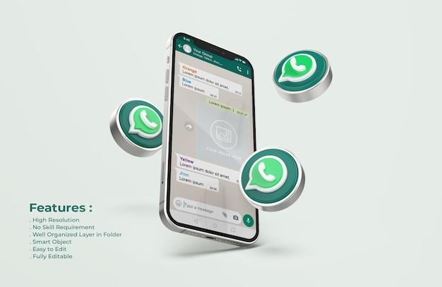Whatsapp Sur La Maquette De Téléphone Mobile En Argent PSD Premium