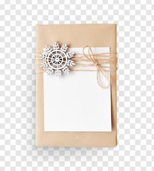 Wisheet de papier maquette et décorer un cadeau de noël