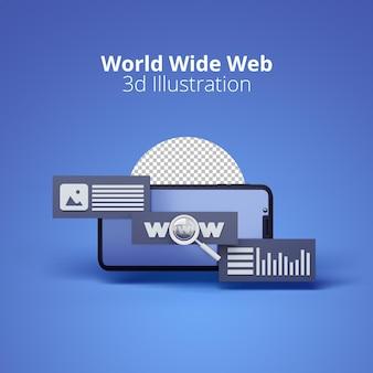 Le world wide web avec les smartphones