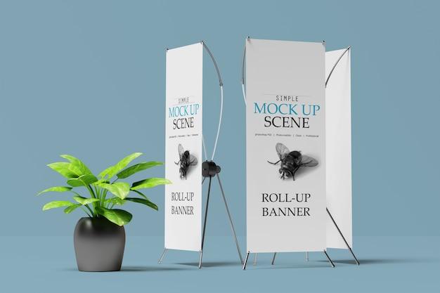 X-bannière ou maquette de stand enroulable