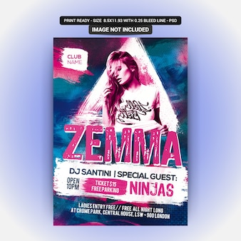 Zemma sexy party flyer