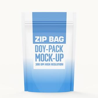 Zip pouch bag maquette