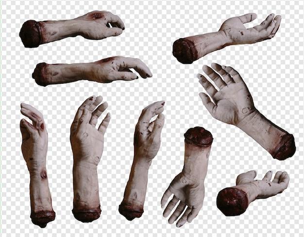 Zombie collection de mains