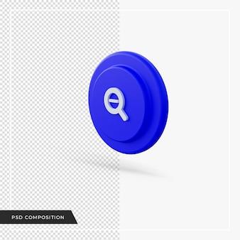 Zoom arrière bleu rouge dans le rendu 3d