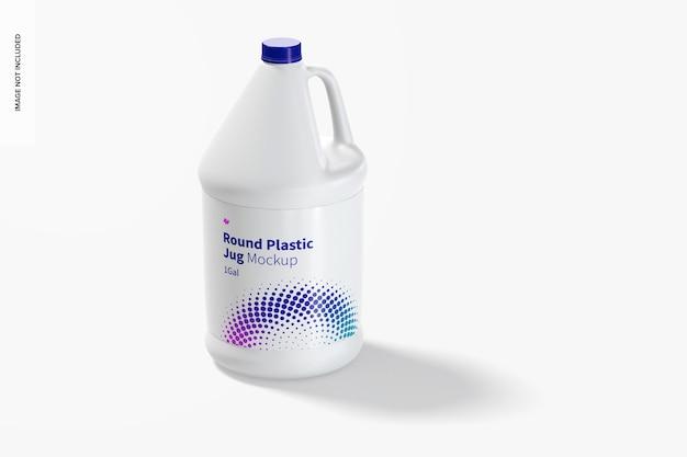 1 galão de maquete de jarro de plástico redondo