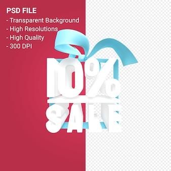 10 venda de procent com projeto 3d de arco e fita isolado