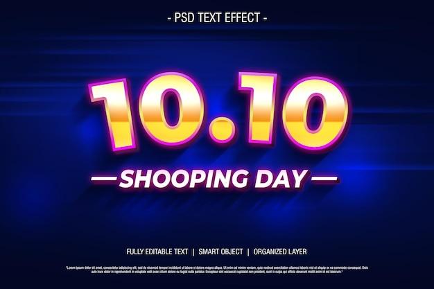 1010 estilo de texto 3d editável