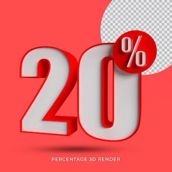 20 porcentagem de renderização em 3d