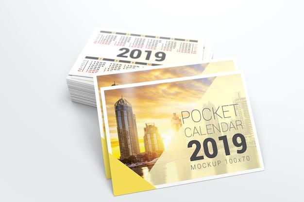 2019 maquete de calendário de bolso