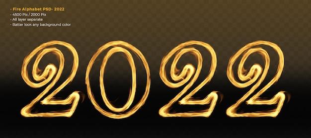 2022 letra do alfabeto de fogo