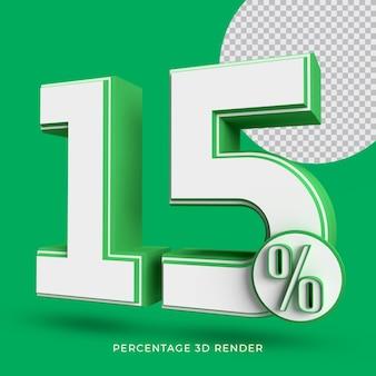 25% de renderização 3d em cor verde