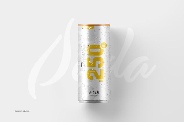 250ml de maquete de lata de refrigerante