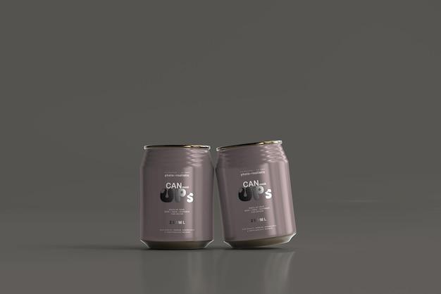 250ml stubby soda can mockup