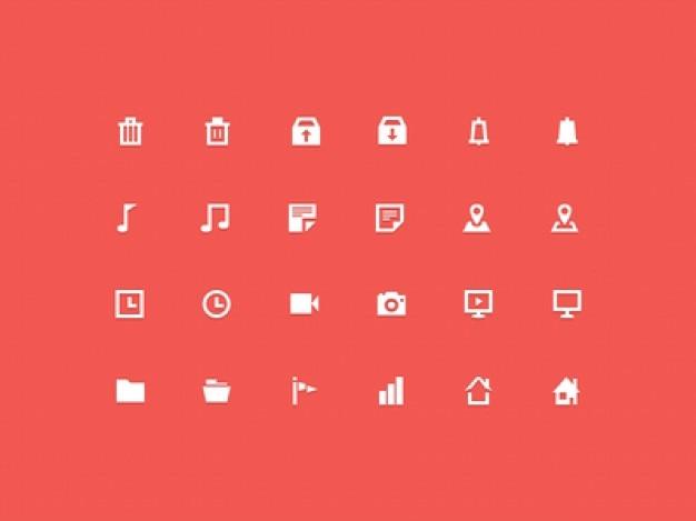 30 ícones mínimos