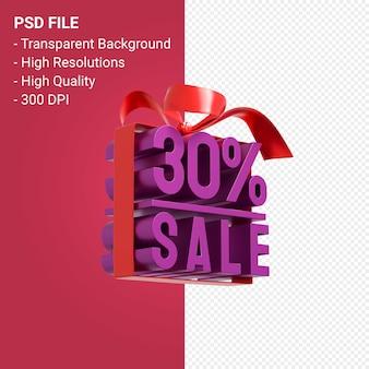 30 venda com arco e fita projeto 3d isolado