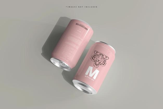 330ml de refrigerante de tamanho médio ou maquete de lata de cerveja
