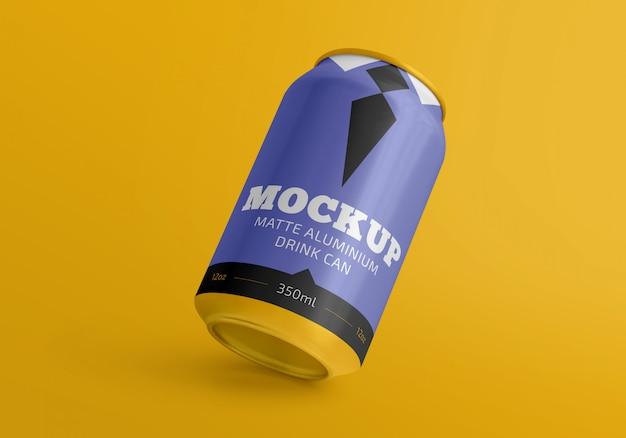 350ml de alumínio fosco bebida pode maquete